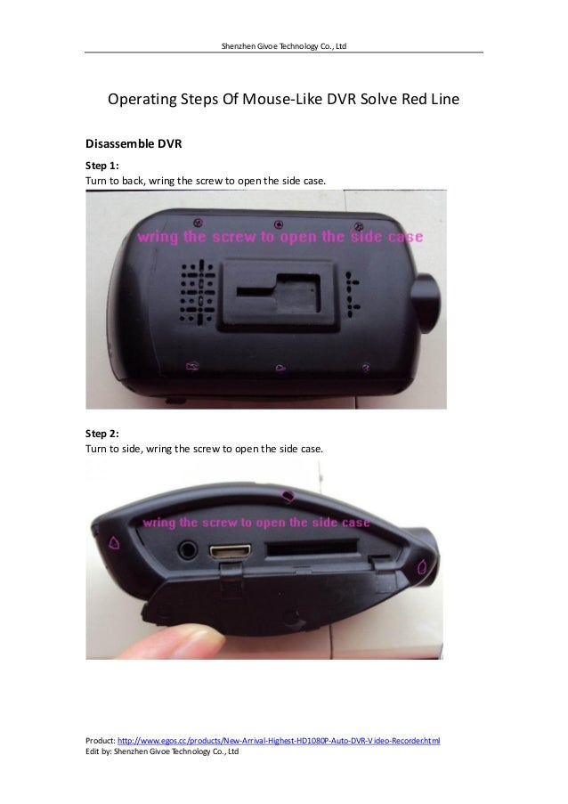 Shenzhen Givoe Technology Co., Ltd Product: http://www.egos.cc/products/New-Arrival-Highest-HD1080P-Auto-DVR-Video-Recorde...