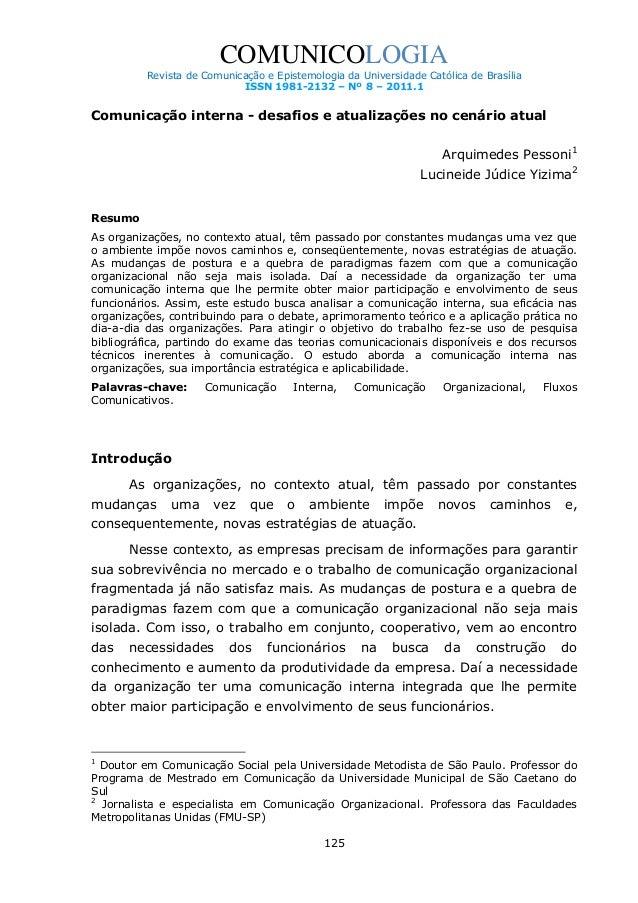 COMUNICOLOGIA Revista de Comunicação e Epistemologia da Universidade Católica de Brasília ISSN 1981-2132 – Nº 8 – 2011.1  ...