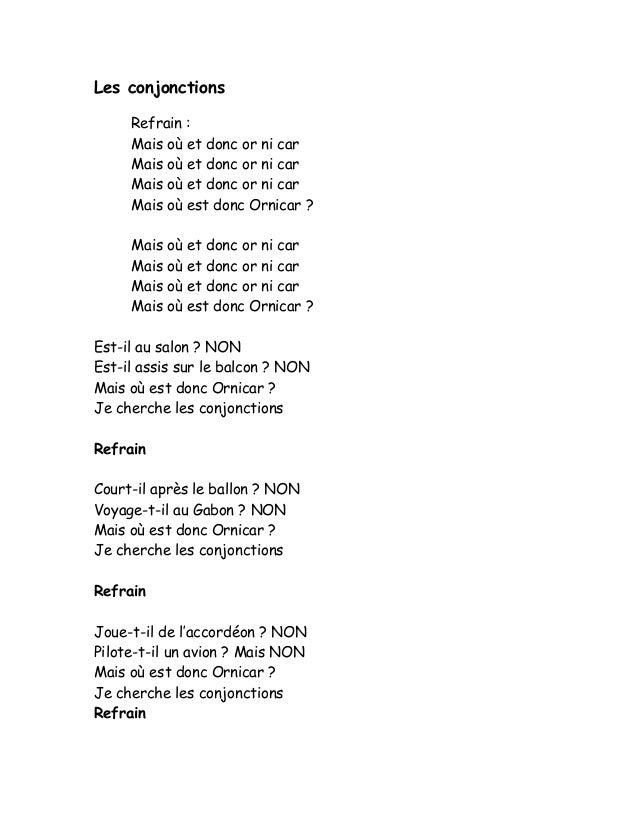 les conjonctions de coordination pdf