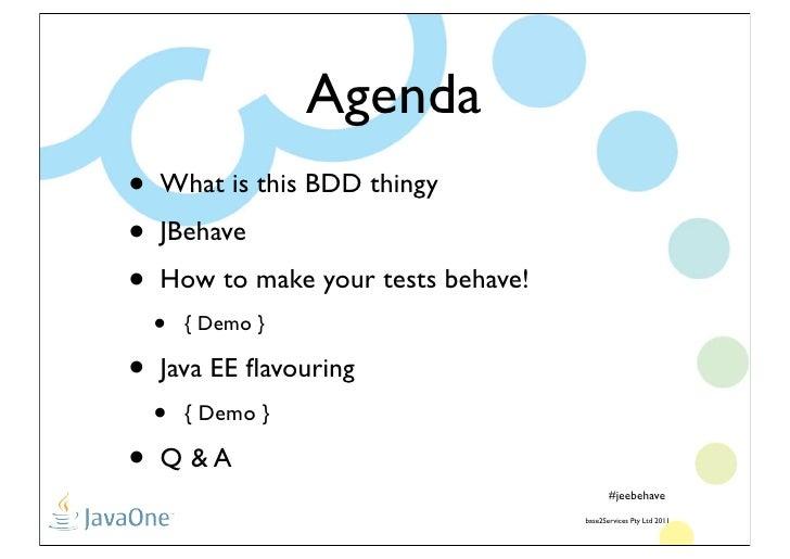 Java EE Behave!!!! Slide 2