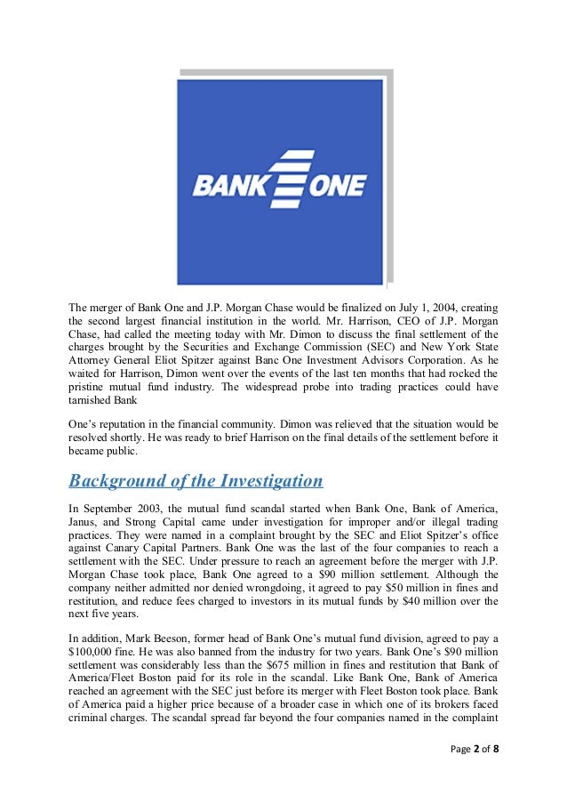 banc one investment advisors corporation search