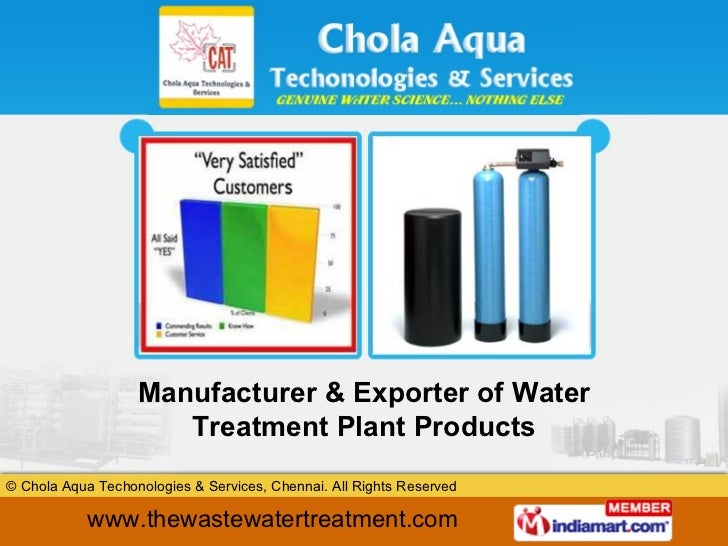 Manufacturer & Exporter of Water Treatment Plant Products