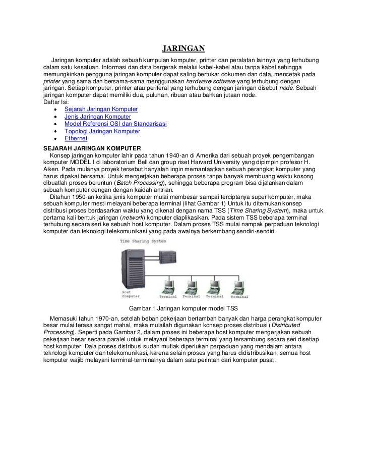 JARINGAN    Jaringan komputer adalah sebuah kumpulan komputer, printer dan peralatan lainnya yang terhubungdalam satu kesa...
