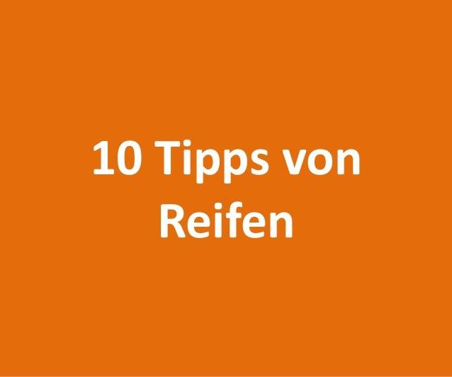 10 Tipps von Reifen