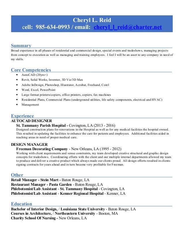 Cheryl Reid Resume-AutoCAD-Graphics