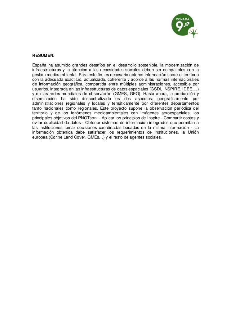 RESUMEN:España ha asumido grandes desafíos en el desarrollo sostenible, la modernización deinfraestructuras y la atención ...