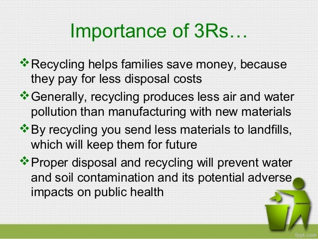 Speech: Recycling and Planet Earth Essay Sample