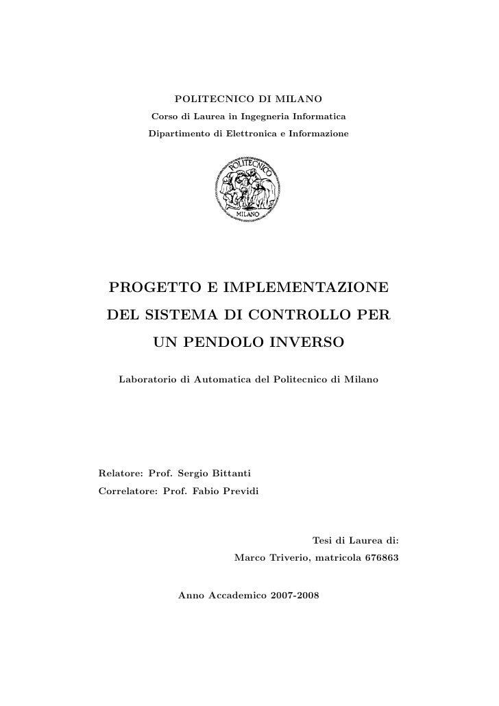 POLITECNICO DI MILANO          Corso di Laurea in Ingegneria Informatica          Dipartimento di Elettronica e Informazio...