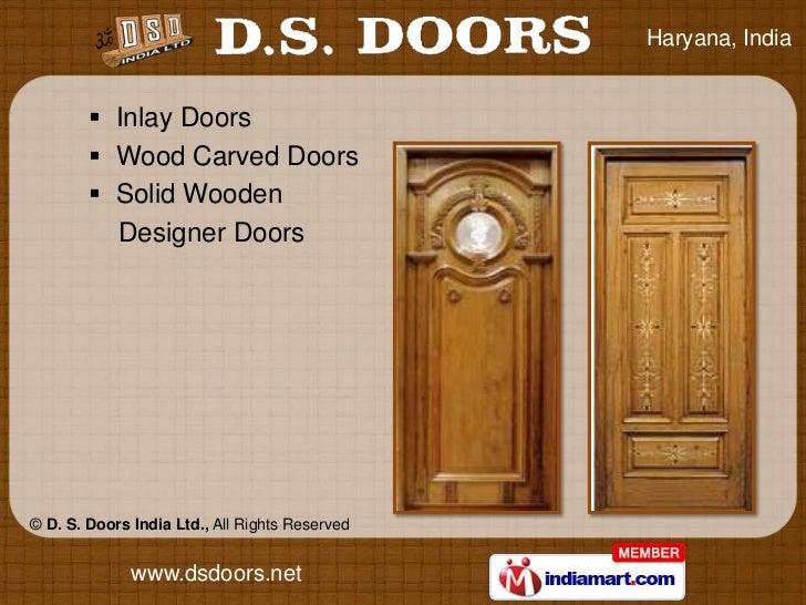 Solid Wooden Doors By D S Doors India Ltd Faridabad