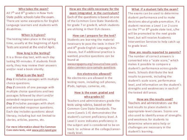 Grade 7 8 Standardized Test Brochure