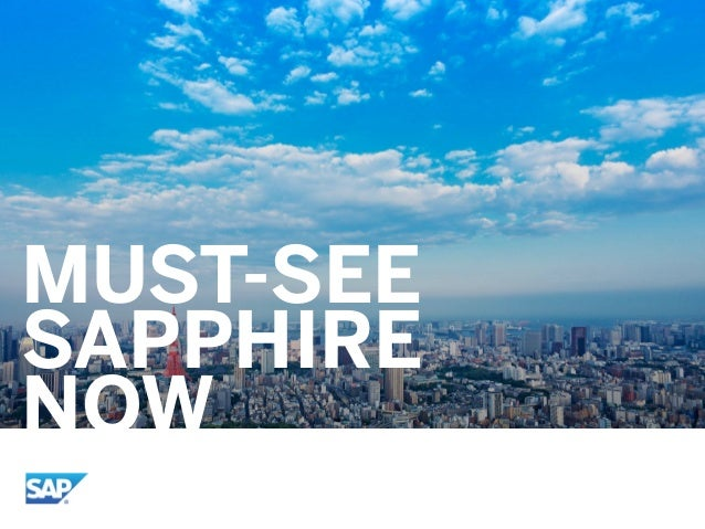 MUST-SEE SAPPHIRE NOW