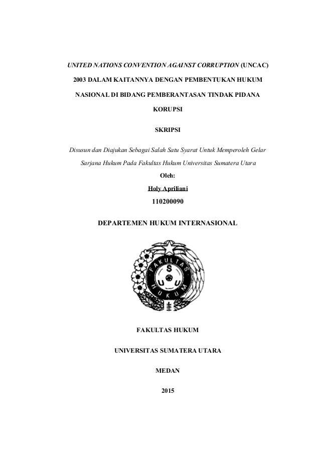 Contoh Judul Skripsi Hukum Pidana Korupsi Ide Judul Skripsi Universitas