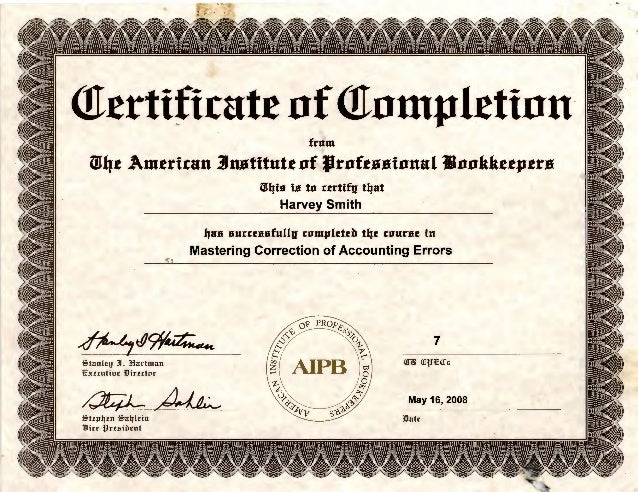 bookkeeper certifications accounting