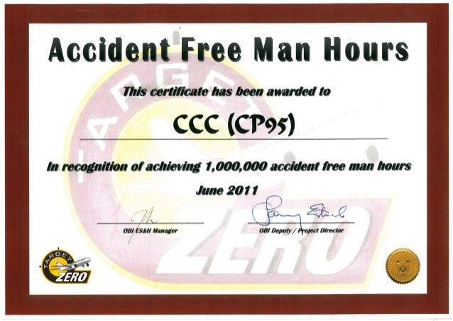 Accident Free Man Hours (June 2011)