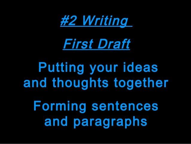 # 4 Presenting Final Draft Sharing your work publishing, speaking