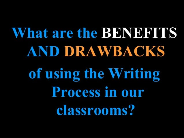 Benefits • The creation of a product • Writing seen as a communicative and purposeful activity • Teaches students to plan ...