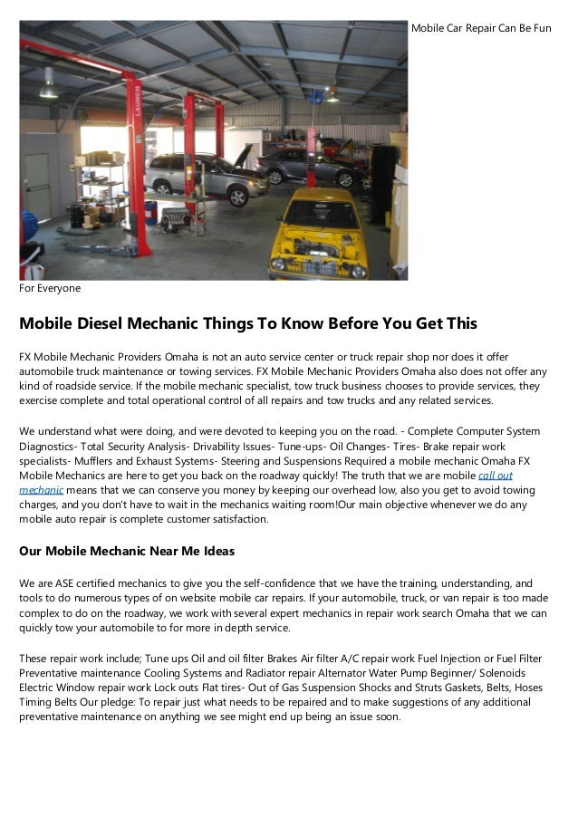 Mobile Mechanic For Beginners