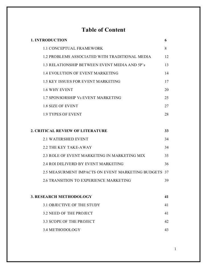 Table of Content1. INTRODUCTION                                        6     1.1 CONCEPTUAL FRAMEWORK                     ...