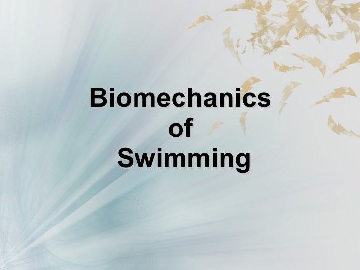 Biomechanical Considerations in the Competitive Swimmer's Shoulder