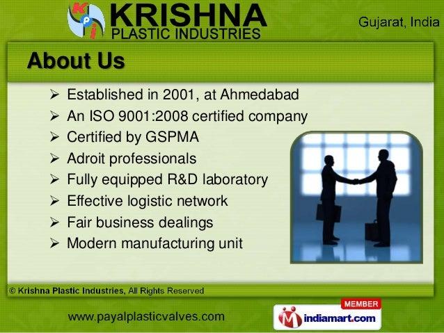 Industrial Valves & Flanges by Krishna Plastic Industries, Ahmedabad  Slide 2