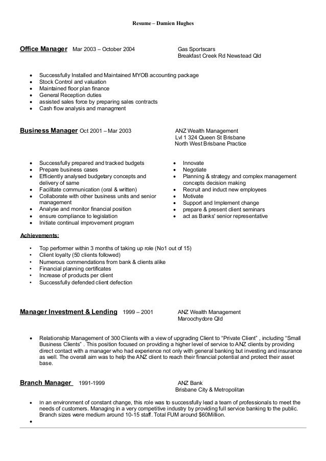 resume maker professional brisbane