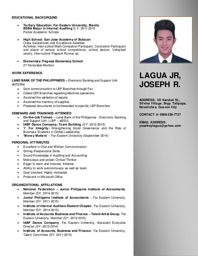 Fine Resume Data Bank Philippines Photos - Examples Professional ...