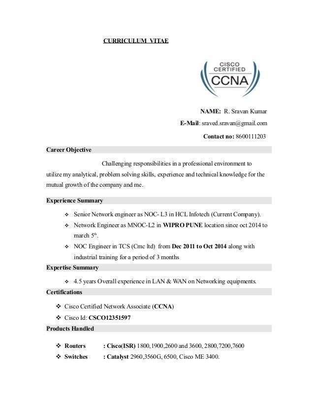 wipro sravan 16 june 2015 resume