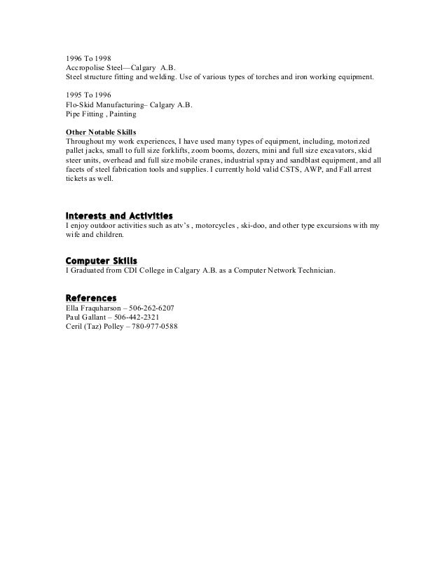 shawn resume in word 2