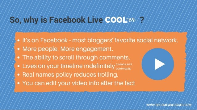 It's on Facebook - most bloggers' favorite social network. More people. More engagement. The ability to scroll through com...