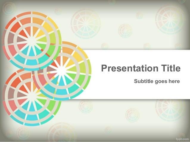 Presentation Title Subtitle goes here