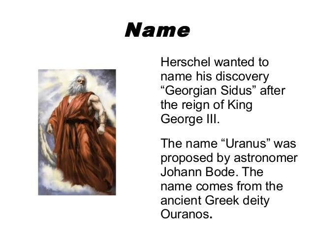 a report on william herschels discovery of uranus the seventh planet of the solar system Uranus is the seventh planet from the sun and is the third largest in the solar system it was discovered by william herschel in 1781.