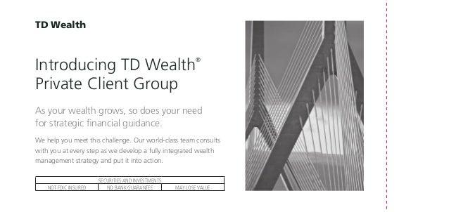 TD Wealth Small Brochure