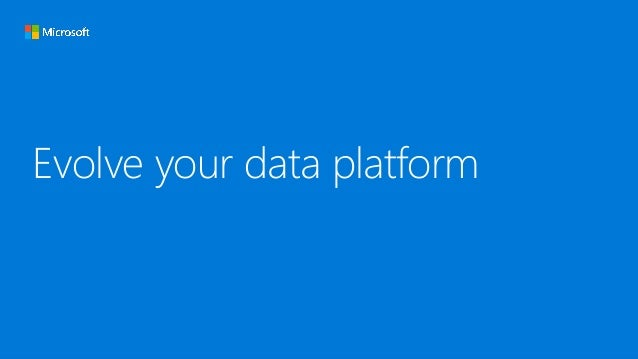 Evolve your data platform