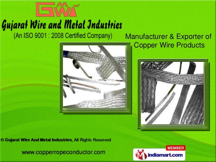 Manufacturer & Exporter of  Copper Wire Products