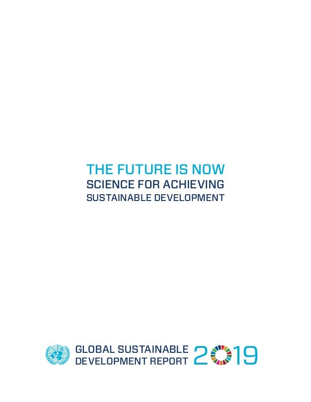THE FUTURE IS NOW SCIENCE FOR ACHIEVING SUSTAINABLE DEVELOPMENT GLOBAL SUSTAINABLE DEVELOPMENT REPORT 2 19