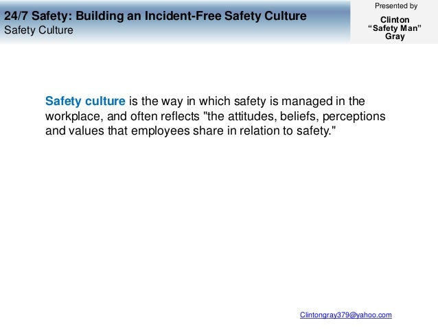safety 24 7 1 summary of safety 24/7 the book safety 24/7 was a book basically about safety in an industrial workplace the book explained many safety tips to improve a.