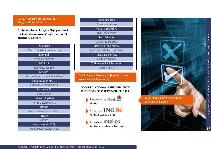 Najlepsze Produkty Bankowe 2011 Oczami Klient 243 W