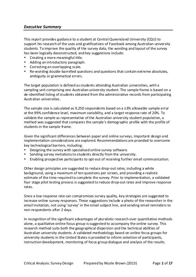 how to write a critical design analysis