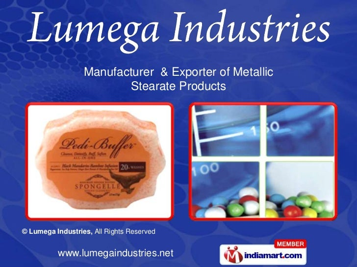 Manufacturer  & Exporter of Metallic <br />Stearate Products<br />