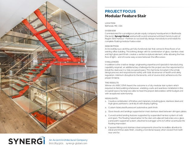 PROJECT FOCUS Modular Feature Stair LOCATION Bethesda MD, USA OVERVIEW Commissioned for a prestigious private equity compa...