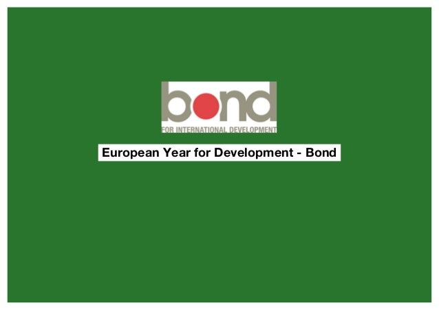 European Year for Development - Bond