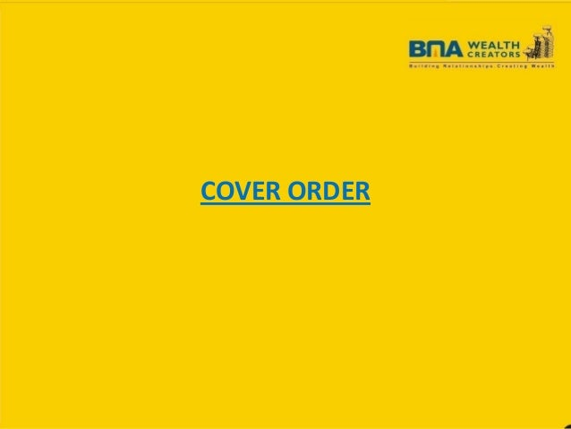 COVER ORDER