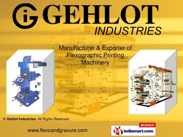 Manufacturer & Exporter of <br />Flexographic Printing <br />Machinery<br />