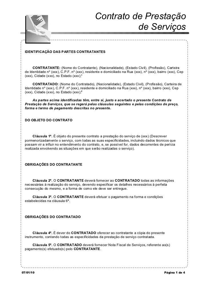 Contrato de Prestação                                                         de Serviços IDENTIFICAÇÃO DAS PARTES CONTRAT...