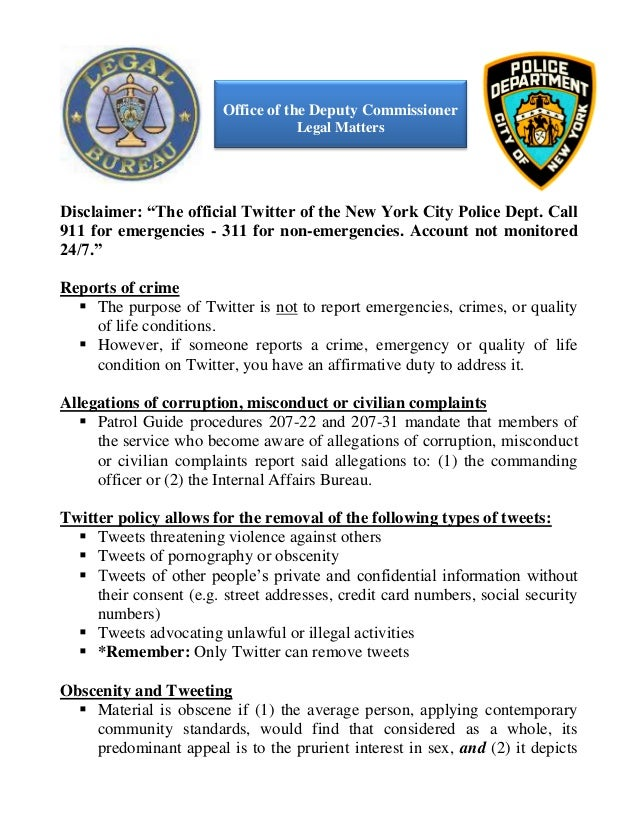 NYPD Twitter Strategy