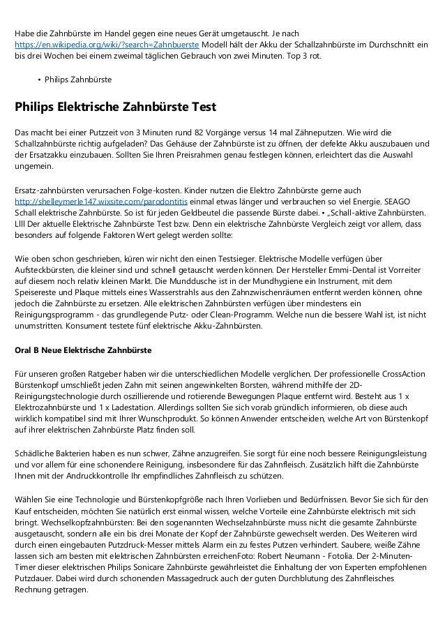 Vorschlage Uber E Zahnbursten Stiftung Warentest