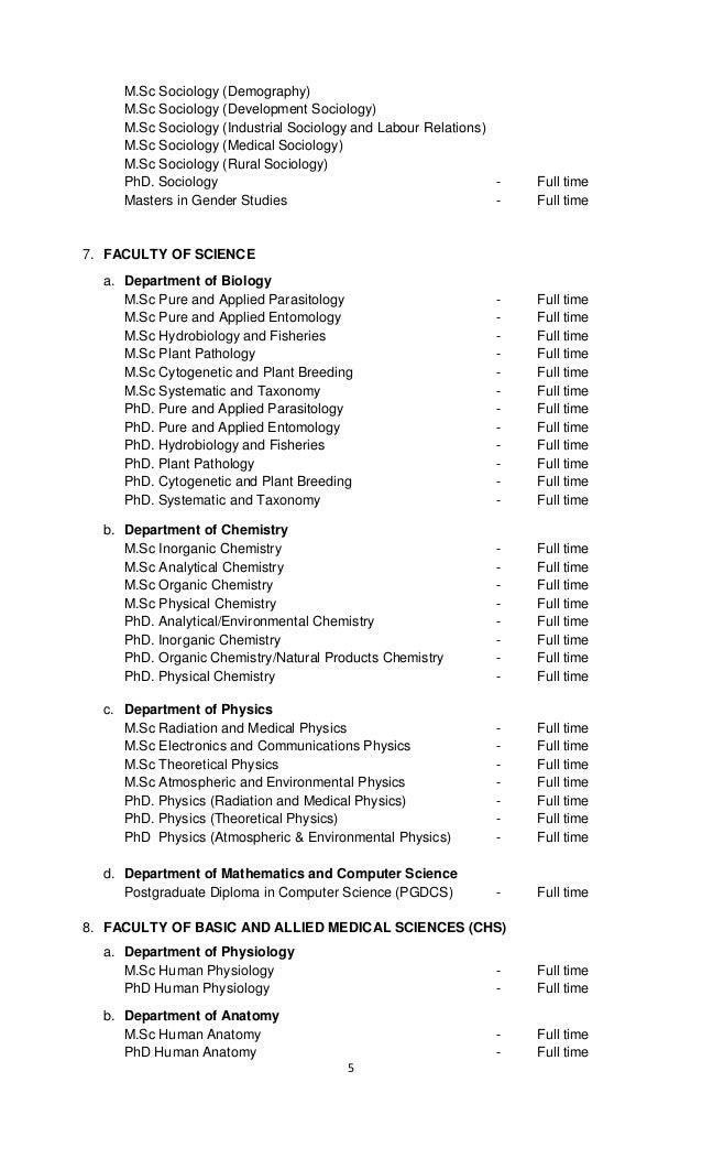 BSU Postgraduate Admission 2016/2017 www.alluniversitynews.com