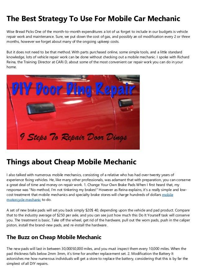 Cheap Car Mechanics Near Me >> Mobile Rv Repair For Dummies