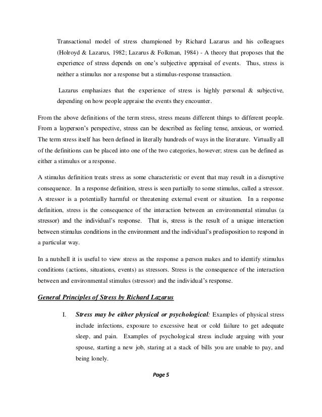 psychology literature review sample