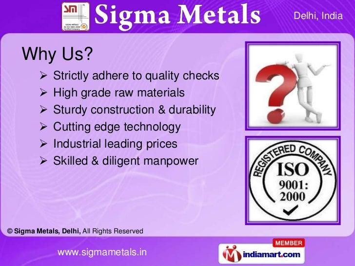 Sigma Metals Delhi  India Slide 3